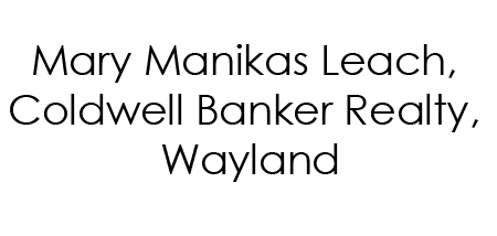 Mary Manikas Leach Coldwell Banker Realty Wayland
